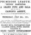 Primrose League grand fete and gala advertisement.png