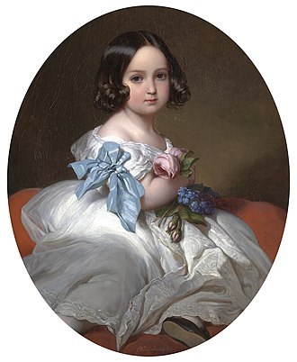 Carlota of Mexico - Princess Charlotte in 1842, by Franz Winterhalter.
