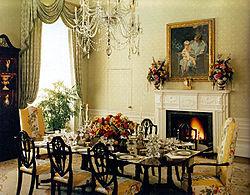salle manger familiale maison blanche