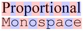Typeface - Image: Proportional vs monospace v 4