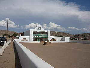 Kewa Pueblo, New Mexico - Image: Pueblo of Santo Domingo Mission Church