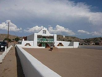 Kewa Pueblo, New Mexico - Image: Pueblo of Santo Domingo Mission Church