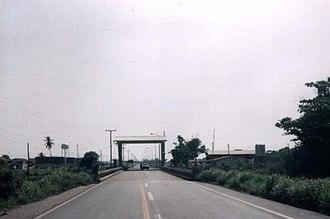 Puerto Castilla, Honduras - Entrance to the harbour of Puerto Castilla, July 1994.
