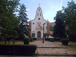 The church of Santa Barbara.