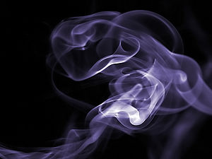 Gas - Drifting smoke particles provide clues to the movement of the surrounding gas.