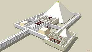 Pyramid of Djedkare Isesi - Reconstruction of Djedkare's pyramid complex