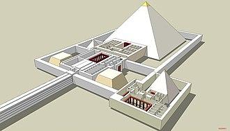 Pyramid of Djedkare Isesi - Reconstruction of Djedkare's pyramid complex