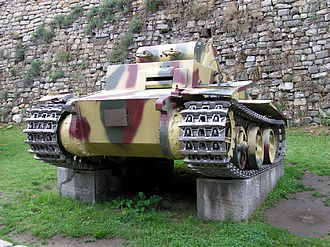Panzer I - PzKpfw I Ausf. F on display at the Belgrade Military Museum