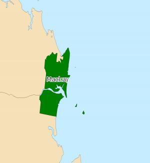 Electoral district of Mackay - Electoral map of Mackay 2008