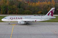 Qatar Airways Airbus A320-200 A7-AHH Zurich International Airport.jpg