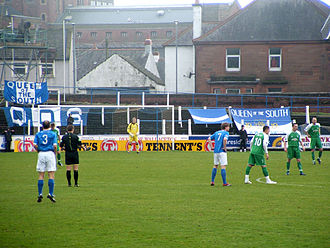 History of Queen of the South F.C. - February 2007 against Hibernian F.C.