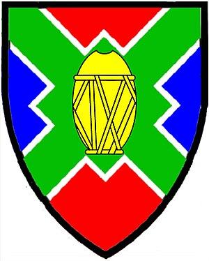 Quadrate (heraldry) - Image: Quadrate saltire wiki