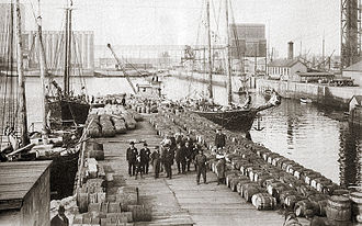 Quebec City - Port of Quebec City in the early 20th century