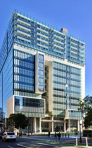 Supreme Court of Queensland - Façade of the Queen Elizabeth II Courts of Law building in Brisbane; the main sitting location of the Court.