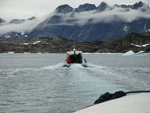Ammassalik Fjord - Steep shoreline of the fjord