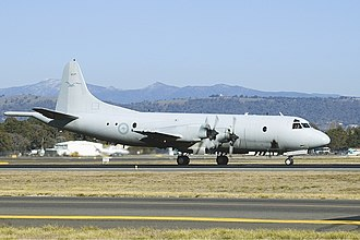 Lockheed AP-3C Orion - An AP-3C at Canberra International Airport in 2005