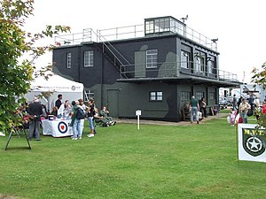 Lincolnshire Aviation Heritage Centre - RAF East Kirkby's former control-tower, during a RAF Benevolent Fund event (August 2009)