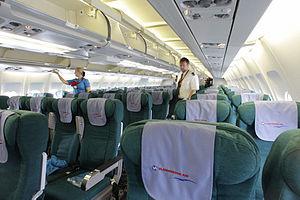 RIAN archive 401541 Presentation of Vladivostok Avia airlines Airbus А330-300 in Vnukovo airport.jpg