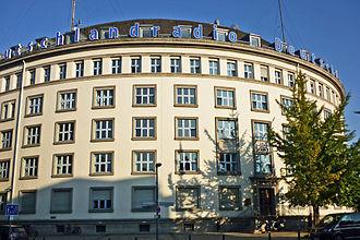Rundfunk im amerikanischen Sektor - Former IG Farben branch office on Kufsteiner Straße, RIAS broadcasting centre from 1948, now headquarters of Deutschlandradio Kultur