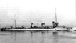 B 97-class destroyer - Cesare Rossarol, the former B 97 in Italian service