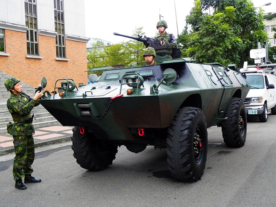 ROC Military Police V-150 Commando Front view