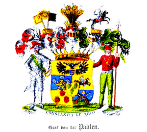 Pahlen - Comital arms of the family