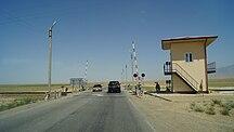 Afghanistan-Rail-Rail crossing in northern Afghanistan