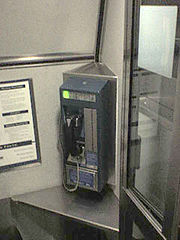 This Railfone found on some Amtrak trains in North America uses cellular technology.