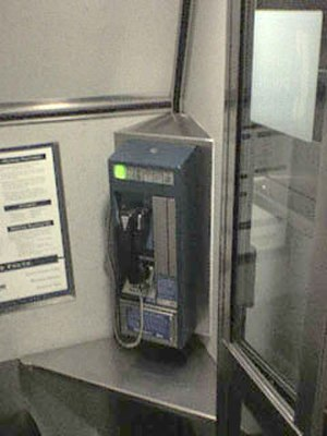 Mobile telephony - This Railfone found on some Amtrak trains in North America uses cellular technology.