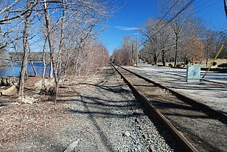Fall River Branch Railroad - A section of the original Fall River Branch Railroad, near Forge Road, Freetown, Massachusetts