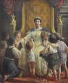 Rainha D. Amélia e meninos (1900) - Ernesto Condeixa.png