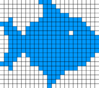 Raster graphic fish 20x23squares sdtv-example.png