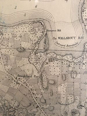 Vinegar Hill, Brooklyn - East river side of Brooklyn and present Vinegar Hill area in 1767