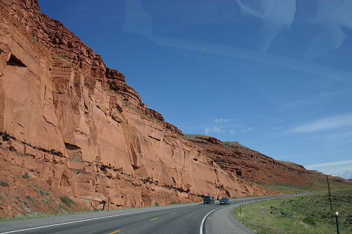 Red Cliff along US287 between Lander and Dubois in Wyoming