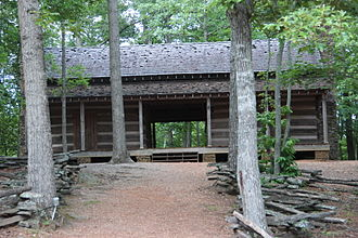 Red Top Mountain State Park - Homestead log cabin