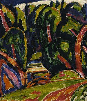 Bates College Museum of Art - Image: Red Tree Marsden Hartley