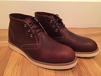 Chukka boot - A variation on the classic chukka boot, this having (as do desert boots) crepe rubber soles