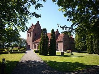 Reerslev Church church building in Høje-Taastrup Municipality, Denmark