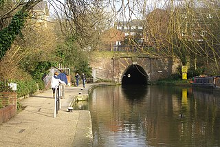 Regents Canal canal across an area just north of central London, England