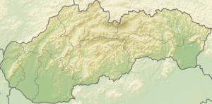 Spišský Hrhov - Image: Relief Map of Slovakia