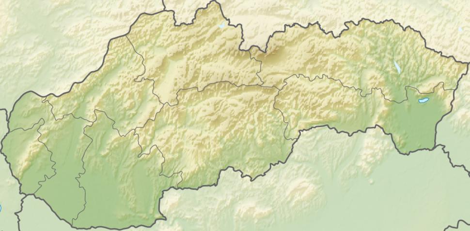 Poloha mesta v rámci Slovenska
