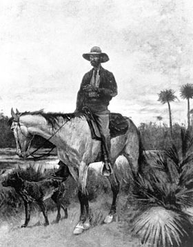 Dessin de Frederic Remington montrant un Florida Cracker, 1895.