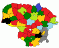 Results of Lithuanian councils of municipalities election, 2015.png