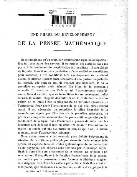 File:Revue de métaphysique et de morale, numéro 3, 1909.djvu