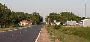 Reynolds, Nebraska - Reynolds, seen from the west along Nebraska Highway 8