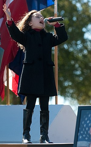 Rhema Marvanne - Rhema Marvanne, sings The prayer during a Remembrance Ceremony at Fort Hood, Texas on November 5, 2010.