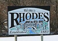 Rhodes Iowa 20090215 Welcome Sign.JPG
