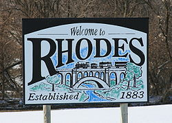 Rhodes Iowa 20090215 Welcome Sign.JPG