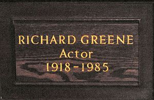 Richard Greene - Memorial plaque to Richard Greene in St Paul's, Covent Garden