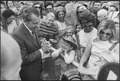 Richard M. Nixon speaking to people upon arriving at Andrews Air Force Base, Camp Springs, Maryland. - NARA - 194729.tiff